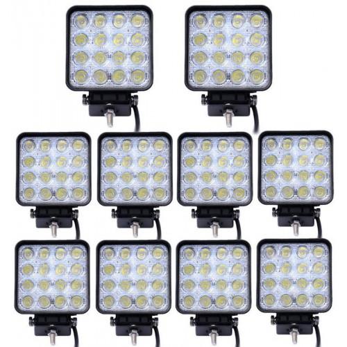 10x 48w led luce lampada faro da lavoro fari auto barca fuoristrada camion 12-24