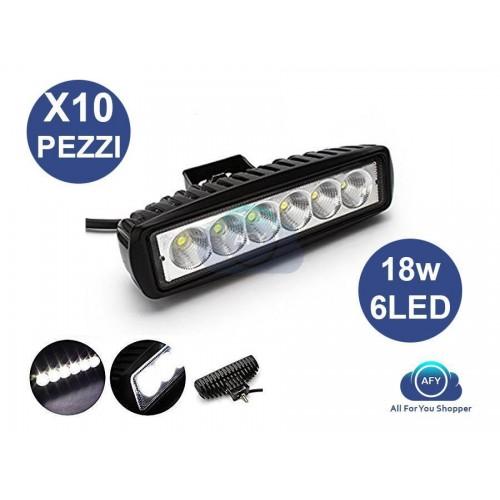 10xfaro fuoristrada 12v 6 led lampada supplementare profondita per auto 18w