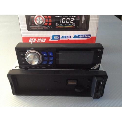 Autoradio stereo auto radio frontalino estraibile fm mpd usb sd aux 1209!!
