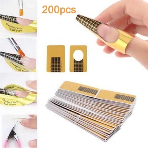 Rotolo cartine oro 200 pezzi nail art per ricostruzione allungamento unghie