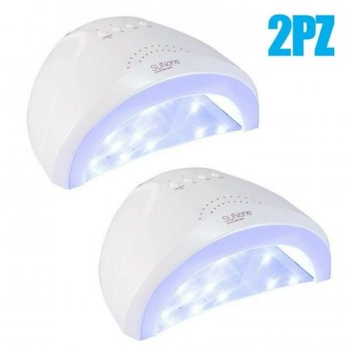 2x lampada led sun one 48 watt 30 led manicure fornetto unghie asciuga smalto