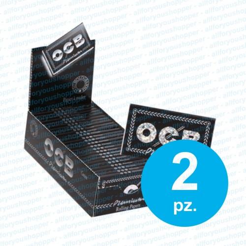 5000 cartine ocb nere corte doppia premium doppie 2 box da 25 libretti