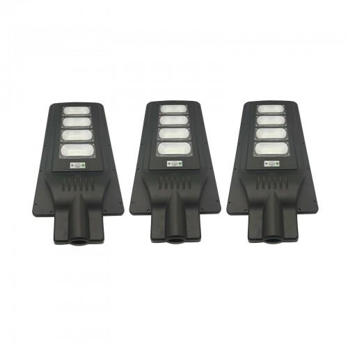 3 x lampione stradale 180w faro led pannello solare luce fredda con telecomando ip66