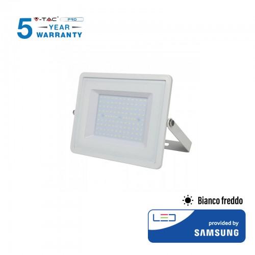 V-tac pro faro led smd chip samsung 100w colore bianco 6400k ip65