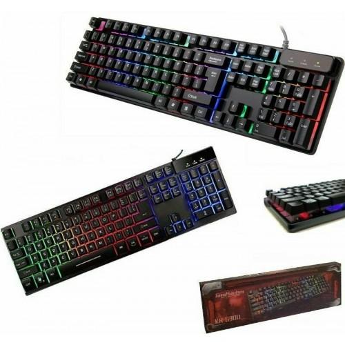 Tastiera gaming rgb led retroilluminata pc keyboard usb gaming computer laptop