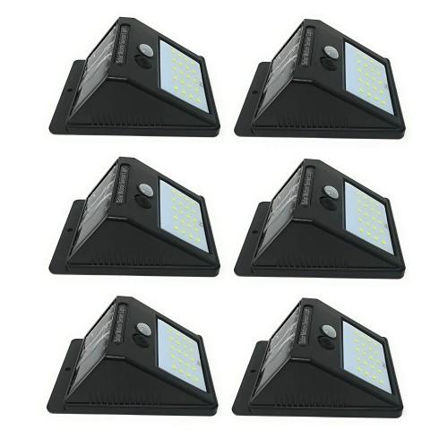 6 x lampada fotovoltaico sensore luce 12 ledsolare da esterno giardino faretto !!!!