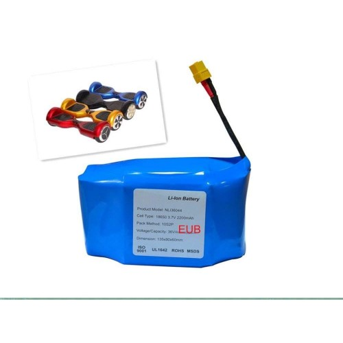 Batteria per hoverboard di ricambio 36v volt 4000 mah 20 celle top quality