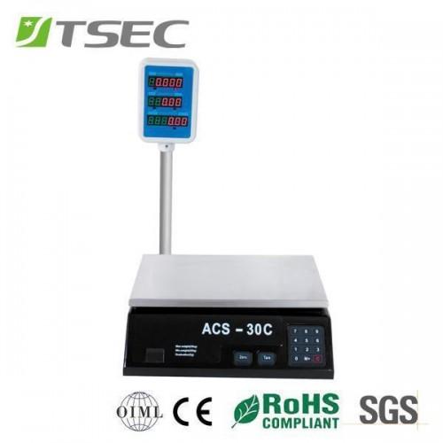 Bilancia professionale fino a 30 kg digitale acs-30 multifunzione di precisione