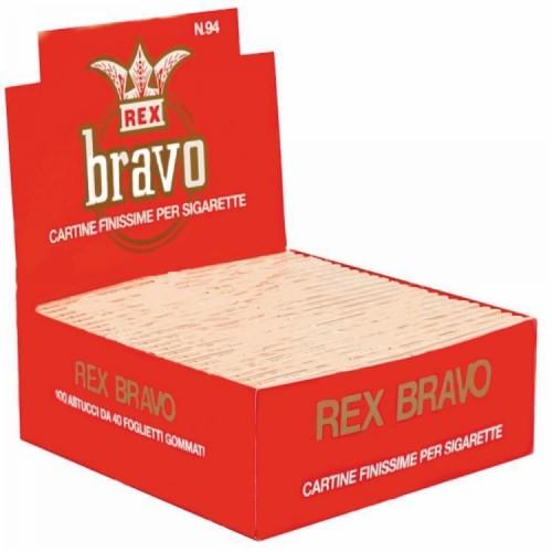 Cartine bravo rex corte 1 box 100 libretti 4000 cartine