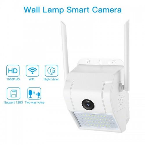 Telecamera ip wifi esterno 2mp 1080p led sensore allarme luce ip66 camera sd