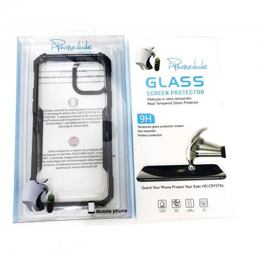 Cover iphone 11 pro destruction assorbe urti fino a 10 metri con vetro temperato 9h