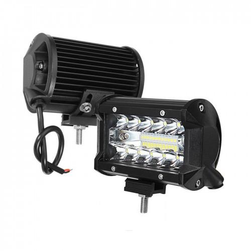 Faro faretto 24 led smd 72w 6000k luce da lavoro, auto, jeep, suv, camion, barca