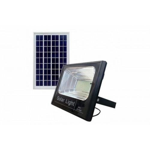 Faro faretto led smd 25w con pannello solare ricaricabile energia crepuscolare