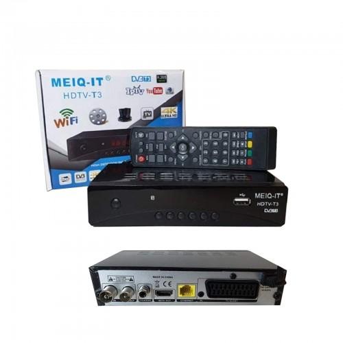 Decoder ricevitore digitale terrestre dvb-t3 tv scart hdmi 1080p h.265