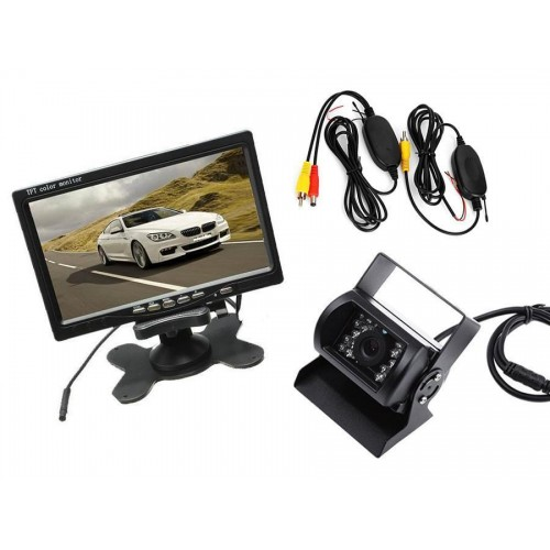 Kit retromarcia wireless telecamera per camper, auto, rimorchi monitor lcd 7