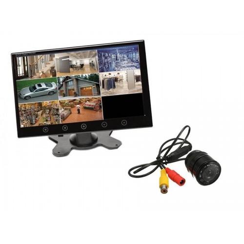 Kit retromarcia telecamer 9 led impermeabilikit mietitrebbia monitor 10