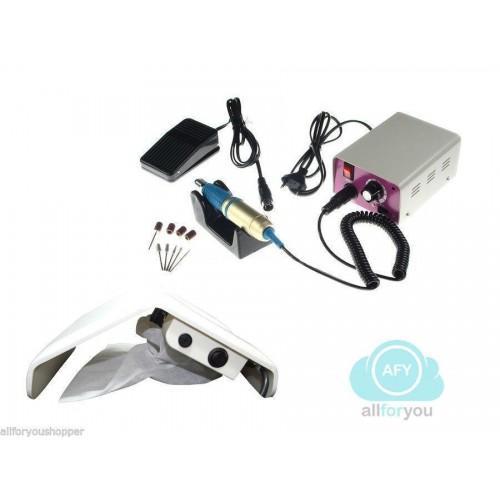 Kit fresa ricostruzione unghie con pedale aspiratore polvere per unghieoffert