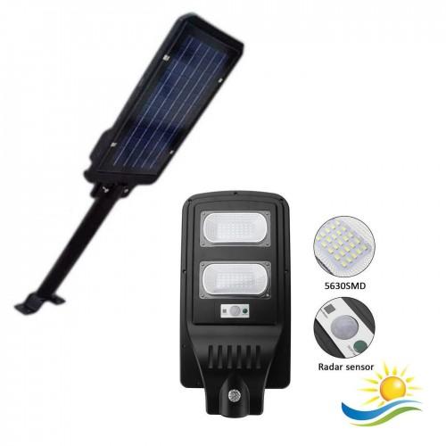 Lampione stradale led 40 w pannello solare fotovoltaico jd1940 con telecomando