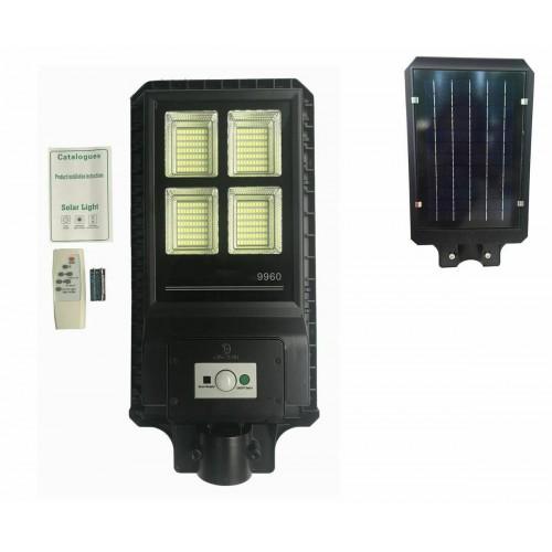 Lampione stradale con telecomando 60 w pannello solare fotovoltaico 280 led