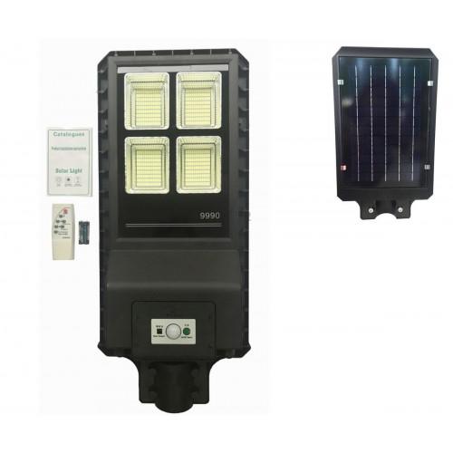 Lampione stradale led 90 w pannello solare fotovoltaico 432 led con telecomando
