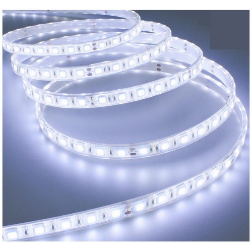 Striscia led a luce bianca fredda smd 5050 strip 5 metri 300 led impermeabile