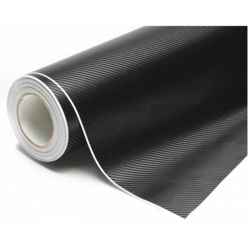 Pellicola adesiva 150 x 500 in carbonio nero nera 3d antigraffio tuning automoto