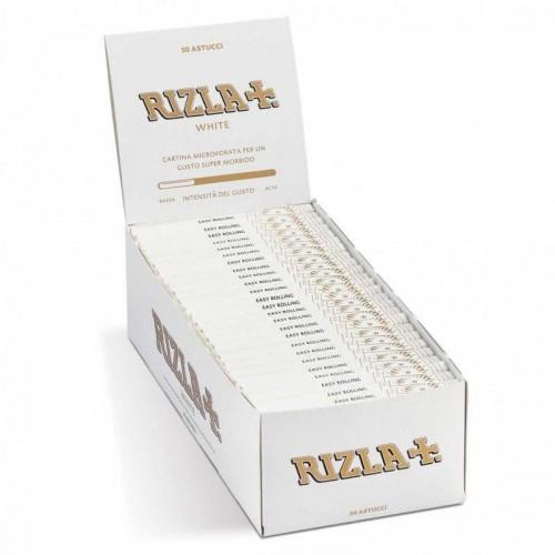 2500 cartine rizla corte bianche white - 1 box da 50 libretti