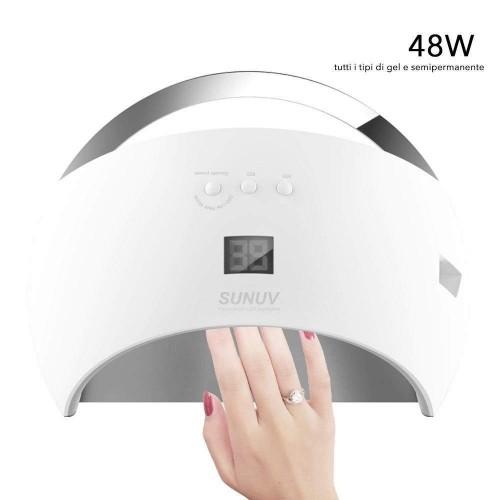 Fornetto led uv 48w per ricostruzione colata gel unghie unghia nail art lampada
