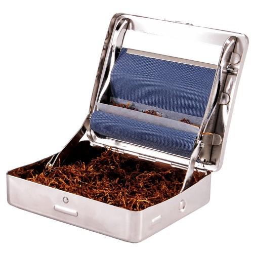 Rollatore rullo macchina macchinetta per sigarette tabacchiera per sigaretta in metallo