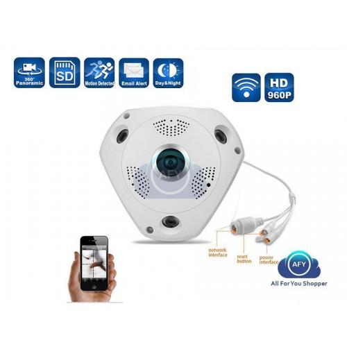 Videocamera ip di sorveglianza  360° vr cam wifi ip telecamerapanoramica