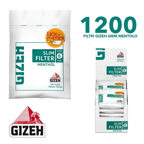 ee57a852f2cb 1200 filtri gizeh slim 6 mm al mentolo 10 bustine 6mm